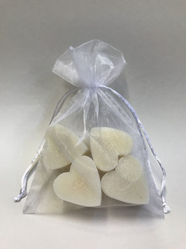 Pochette savons coeur aux ingrédients Bio.