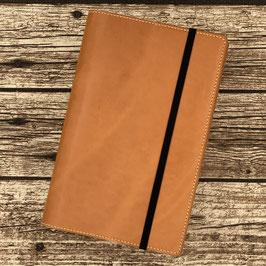 Lederhülle aus sonnengebräuntem Naturleder für Moleskine® Large