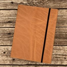 Lederhülle aus sonnengebräuntem Naturleder für Moleskine® Extra-Large