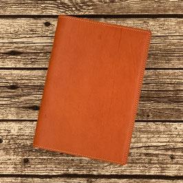 Ledereinband Orange für A5