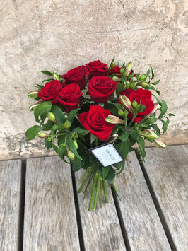 Bouquet 10 rosas rojas