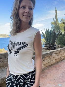 "Shirt ""Solana"", Schmetterling-Print"