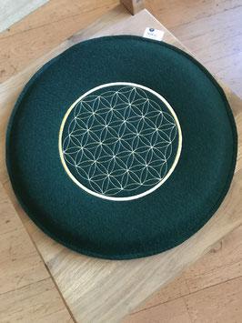 Blume des Lebens o. keltisches Motiv: Sitzkissen, Stuhlkissen, Filzkissen bestickt