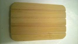 Seifenbrettchen aus Bambus mit Rillen