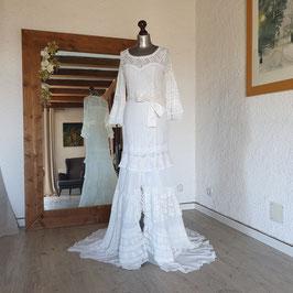 Robe de mariée, dentelle, vintage, recyclée, FLAMENCO, S, 36