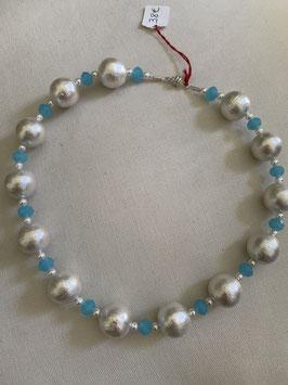Collier en perles Cotton et Cristal Swarovski