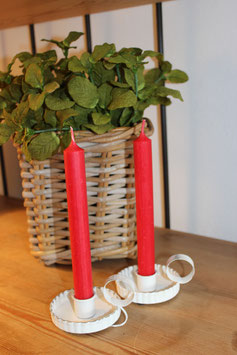 classiccandle, Stabkerze, rot