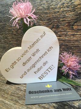 Mama| Herz aus Zirbe | eingravierter Spruch | Holzherz | Muttertag