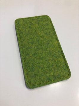 Handyhülle, aus 100% Wollfilz (Merinowolle), grün meliert