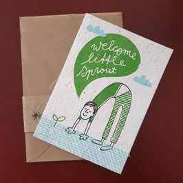 Send & Grow cards - Welcome little sprout