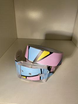 Skimp Gürtel Recycelbarer Elastomer-Thermoplastgürtel / Polycarbonat-Schnalle Pink Flamingo