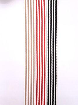 Gurtband Streifen 38mm div. Farben