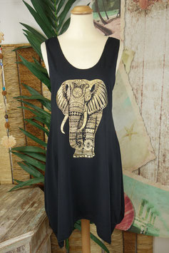 Tank Dress Gold on Black 1411.08