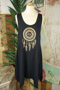 Tank Dress Gold on Black 1411.10