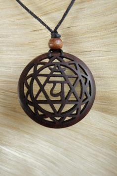 Chakra Halskette  aus Holz - Anahta GU-43117 b