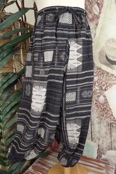 Hose low pattern black-grey GU-39696 b