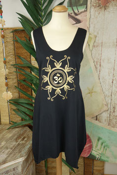 Tank Dress Gold on Black 1411.07