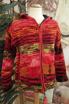 Wolljacke mit Innenfleece Autumn RED BAE-02