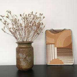 Vase en grès vintage - motif végétal