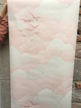 Rouleau de papier peint vintage Mouettes (Vénilia)