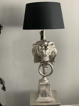Stehlampe Löwenkopf 32x36x117 cm mit Schirm rund