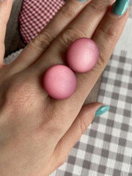 Ohrstecker oder Ohrclips matt in 20mm ( rosa )