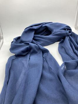 Schal aus 100% Baumwolle BLAU
