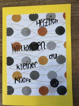 "Karte "" Knopf"" / ""Bohne"""