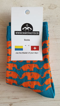 1 Paar Socken Tierli Elefant - Gr. 20-25  (ähnliche Qualität wie Happy Socks - zu fairen Preisen)