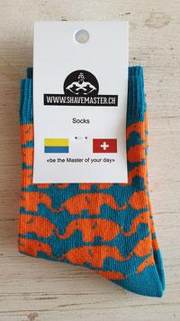 1 Paar Socken Tierli Elefant - Gr-26-30  (ähnliche Qualität wie Happy Socks - zu fairen Preisen)