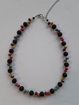 Halskette Ton und Lava