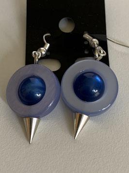 Ohrringe aus auswechselbaren Polariselementen in hell- und dunkelblau