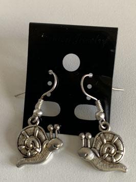 Ohrringe mit Anhänger Schnecke