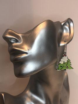 Ohrringe mit Anhänger Weihnachtsbaum