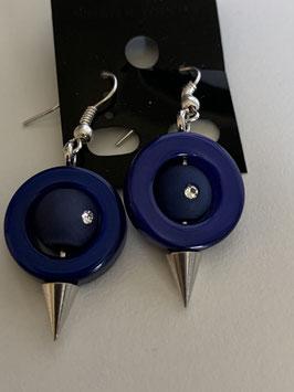 Ohrringe aus auswechselbaren Polariselementen mit Swarovskisteinen in dunkelblau