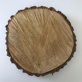 Birkenholzscheibe 23 cm rund