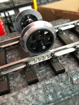 LGB 99999 Metall- Doppelspeichenradsatz 2 Stück mit Stromabnahme