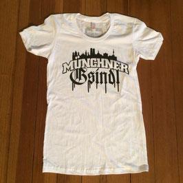 T-Shirt - Madln - Skyline - Weiß