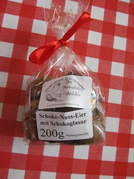 Schoko-Nuss-Eier weiß und dunkel 200g