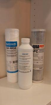 Kit Entretien Adoucisseur 2 cartouches & 1 désinfectant résines