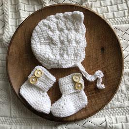 Baby Boots - mit Lasche aus hochwertiger Merinowolle