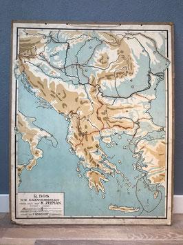 Schoolplaat Balkan Schiereiland