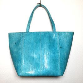 Blue Snakeskin leather 80s Handbag