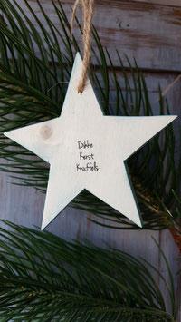 Houten ster kerst knuffel.