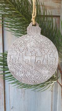 houten kerstbal xl