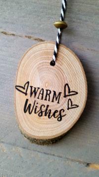 boomschijf hanger Warm wishes