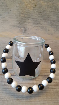 thee licht houder beads black