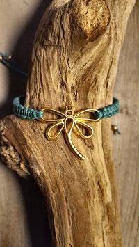 armbandje libelle gold