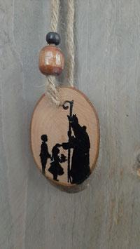 boomschijf met Sint en kind..