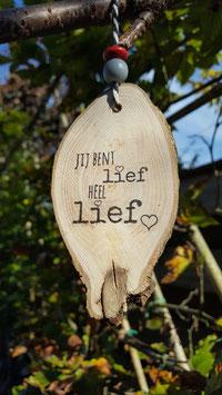 boomschijf hanger heel lief